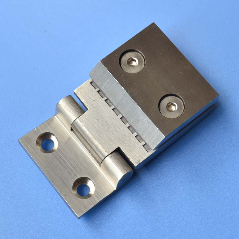 free shipping Stainless steel door hinge bathroom glass clamp door hinge thickened glass door hinge household hardware 1 pair 4 inch furniture hinge stainless steel hinge door hinge satin finish lash hinge