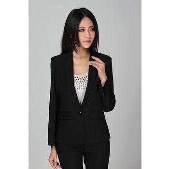 Women's single-button slim suit two-piece suit (jacket + pants) ladies business formal wear support custom