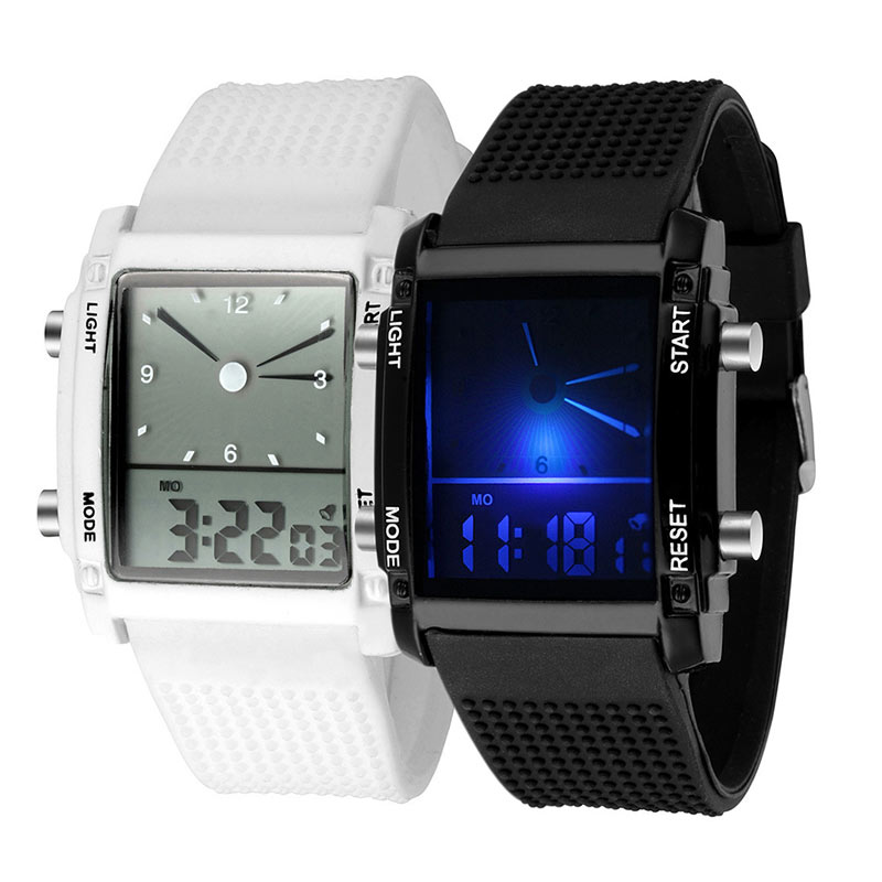 Digital LED Luxury  Exquisite Chronograph Quartz Sport Wrist Watch Women Men Unisex  LL