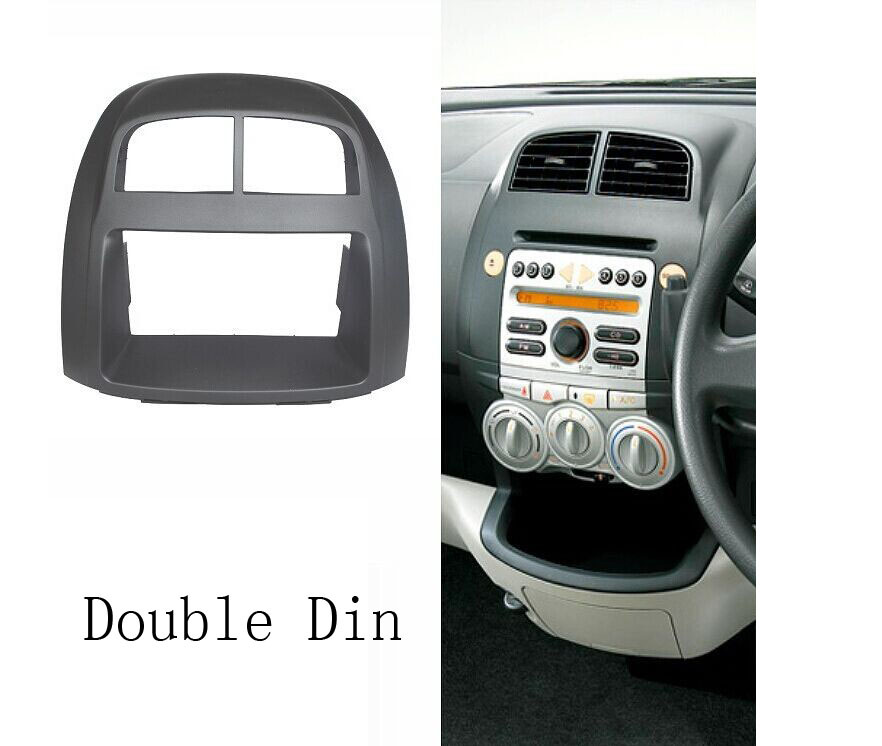 Two Din Audio Fascia for Toyota Passo Proton Sirion Stereo Radio GPS DVD Stereo CD Panel Dash Mount Installation Trim Kit Frame  double din fascia fit radio dvd stereo cd panel dash face frame mounting installation trim kit for honda civic