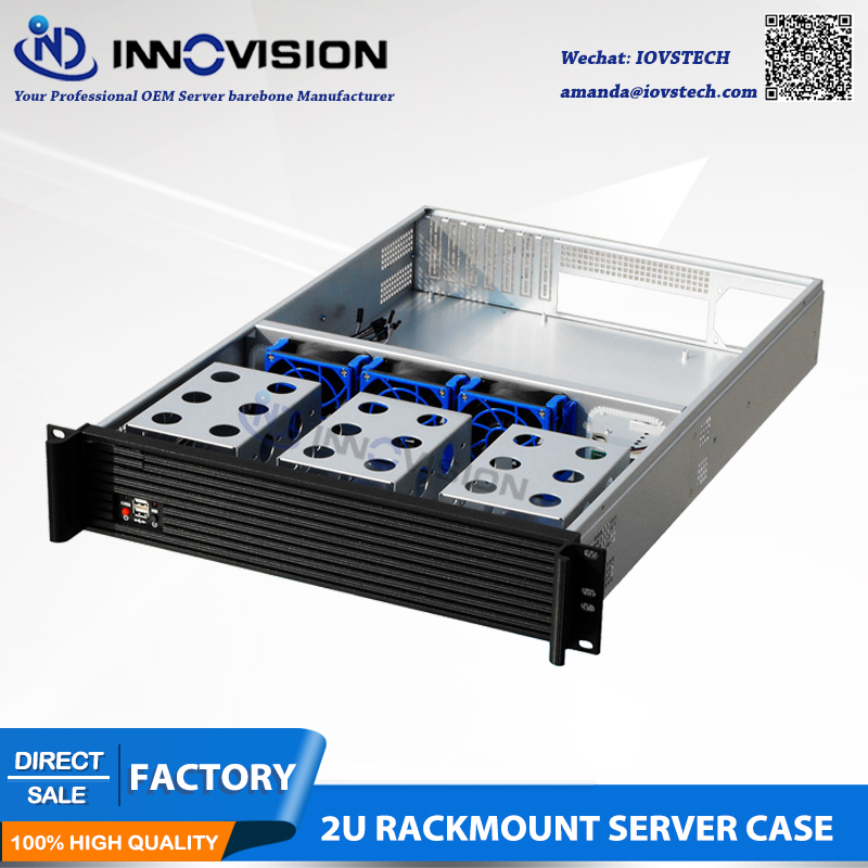 Elegant 2U rackmount şassisi RC2650L rack server qutusu L = 650MM