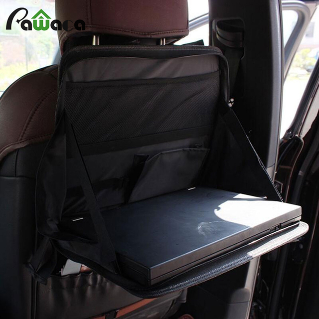 Portable Car Seat Laptop Stand Black Foldable Notebook Holder Food Drink Tray Table Automobile Desk Bracket