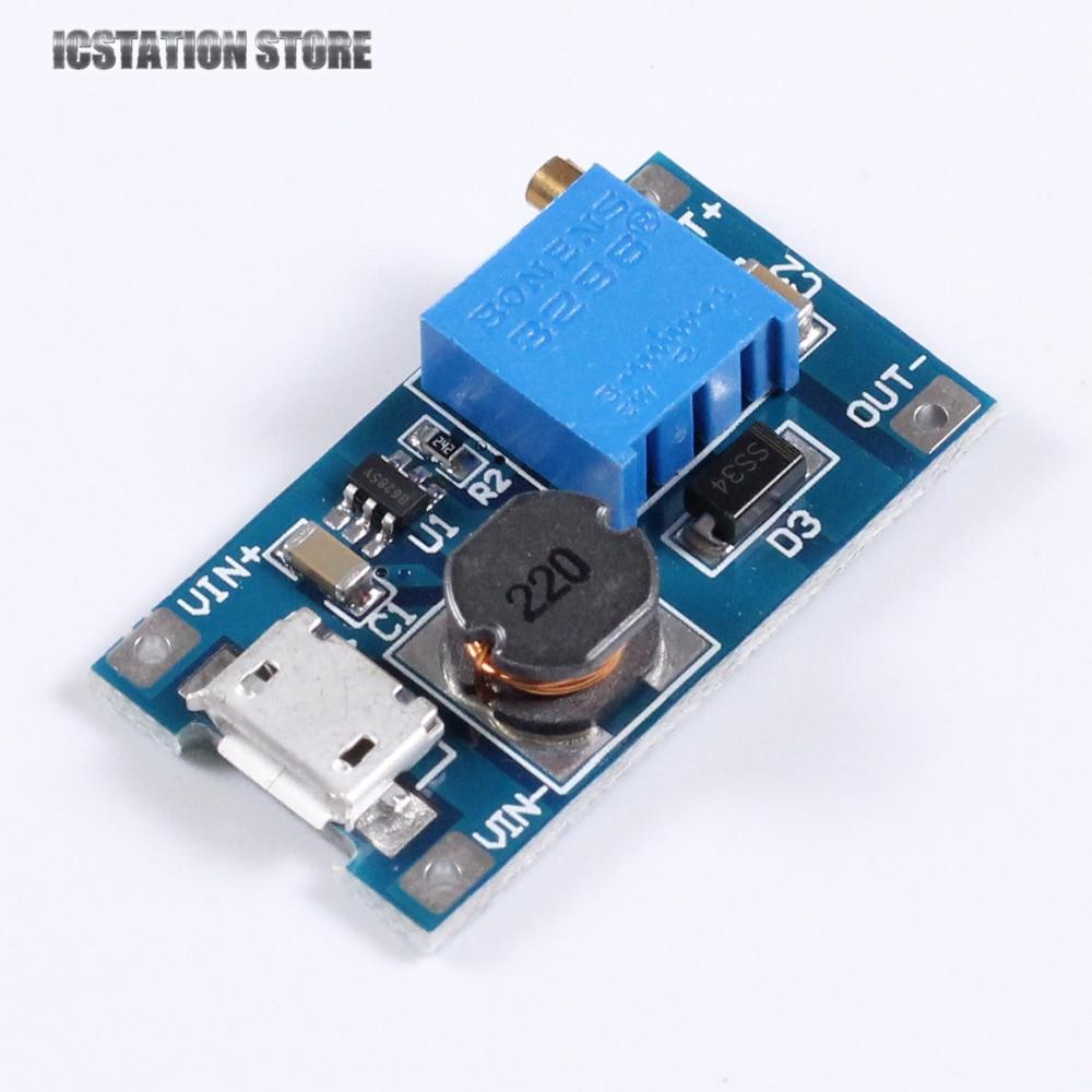 DC-DC 2A Booster Board Step-up Module Input 2/24V to 5/9/12/28V Replace XL6009 led step up board t87d106 00 l315h3 2ea a002a l315h3 2ea a002b