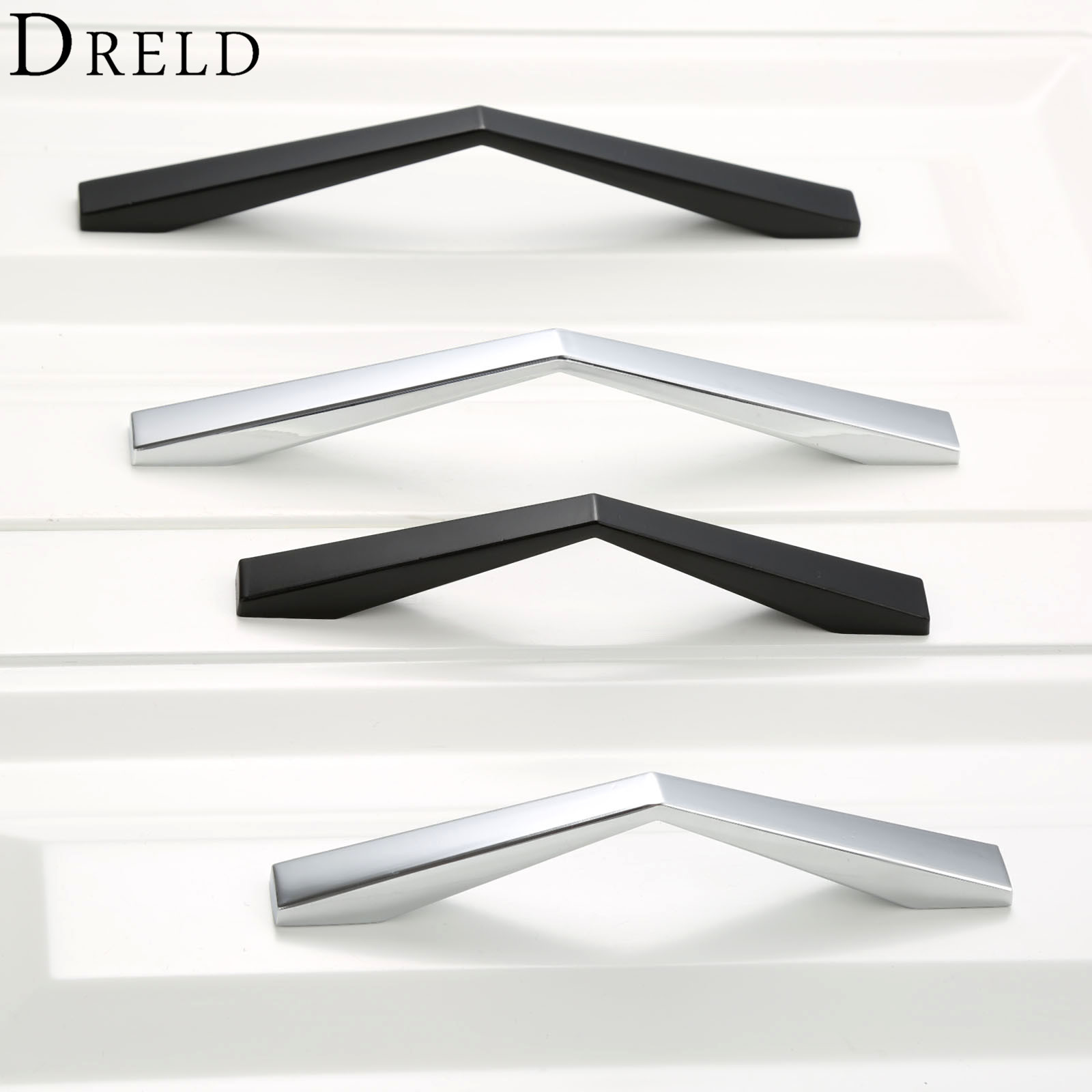 DRELD Furniture Handle Cabinet Knobs and Handles Closet Drawer Door Kitchen Pull Handle Hole Spacing 96/128mm Furniture Hardware hot brown handle single hole leather door handles cabinet cupboard drawer pull knobs furniture kitchen accessories 96 160 192mm