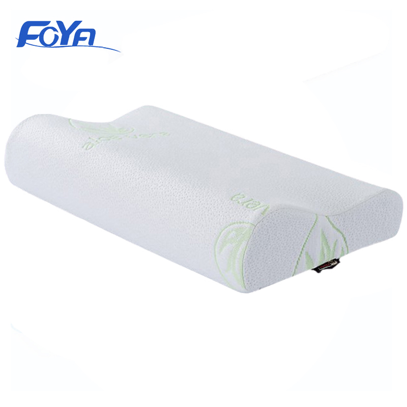 FOYA Improve Sleep Memory Foam Pillow Comfortable Breathable Wave High And Low Two Areas Free To Change