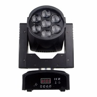 Free Shipping Zoom Wash Zoom Moving Head 7x12W RGBW 4in1 LED Moving Head Mini DJ Dmx