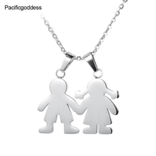 цена на cute bear Stainless Steel Necklace pendant for best girl