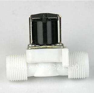 """3/4 """"BSPP 2Way Nylon plástico gravedad alimentación Solar solenoide válvula normalmente cerrado agua aire Gas calentador lavadora"""