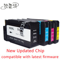 4x Ink Cartridge For HP 950 951 XL Show Ink Level Compatible For HP 8610 8620
