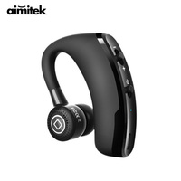 Aimitek V9 Handsfree Business Bluetooth Headset Wireless Earphone Music Earbud With Mic Voice Control For Drive