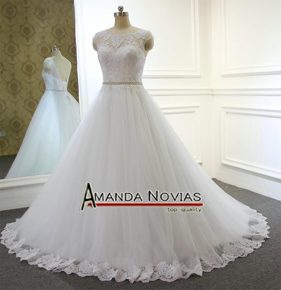 Simple But Elegant Cheap High Quality Wedding Dress Amanda Novias-in ...