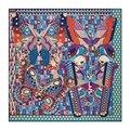 Para mujer Bufandas de Diseño De Moda de La Mariposa Patrón de Puntos Señoras de Seda Cuadrados Bufanda Chales Y Estolas Bufandas Mujer 2017 13071