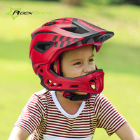 Rockbros Pro Cycling Helmet 2 In 1 Full Covered Integrally molded Kids Bicycle Bike Helmet Safety Motocross Motorcycle Helmet