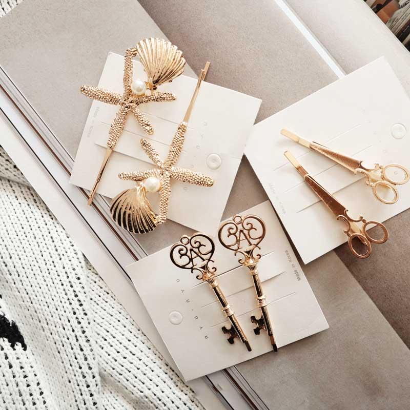 Vintage Metal Starfish Key Clip Hair Clip for Girls   Headwear   Hair Accessories Adult Hairpins Hair Barrettes Hairgrips Women