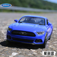 High Quality Children Pull Back Toys Welly Mini Collection Die-cast Car Models 1:36 Ford Mustang(China)