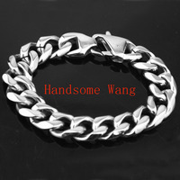 17mm 8 66 High Quality 316L Stainless Steel Men S Women Curb Cuban Chain Bracelet Bangle