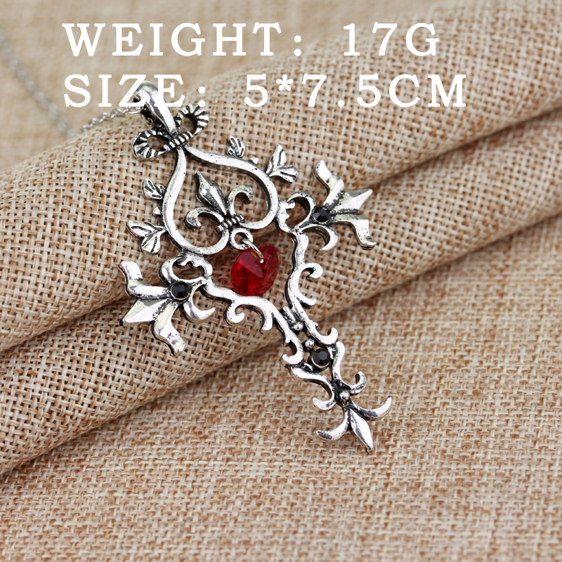 Free shipping movie jewelry the vampire diaries necklace sacred free shipping movie jewelry the vampire diaries necklace sacred heart pendant necklace in chain necklaces from jewelry accessories on aliexpress aloadofball Images
