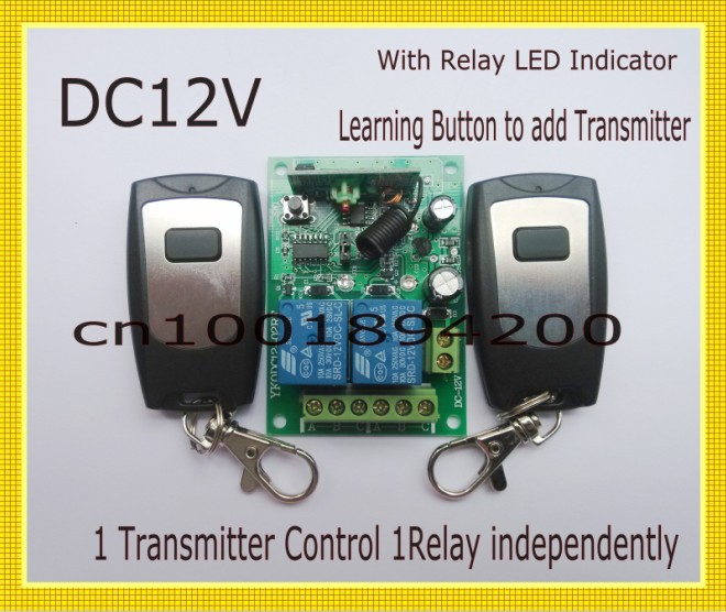12V 2CH Remote Control Switch 2Transmitter Receiver 1CH 1Button Radio Controller 315/433MZH Momentary/Toggle/Latched Adjusted 315 433mhz 12v 2ch remote control light on off switch 3transmitter 1receiver momentary toggle latched with relay indicator