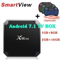 10pcs X96 Mini Android 7 1 OS Smart TV BOX 1GB 8GB 2GB 16GB Amlogic S905W