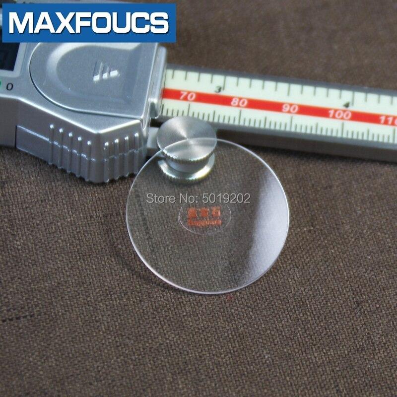 espelho redondo vidro cristal transparente para reparação relógio para tissot