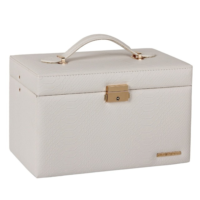 Black PU Leather Jewelry Packaging Display Boxes 3 Drawers Rings Storage Girls Jewellery Organizer Carrying Cases