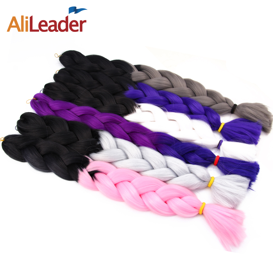 Hair Extensions & Wigs Smart Alileader Synthetic Jumbo Braids Hair 30 Inch High Temperature Fiber Jumbo Brading Ombre Crochet Braiding Hair Extensions Cleaning The Oral Cavity. Hair Braids