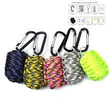 New SOS Survival Outdoor EDC Paracord Kit Emergency Gear for Camping Hunting Green Useful Tools