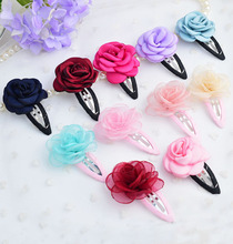 New arrivals charming floral baby hair clips flower design BB Clips girls hairpins in multicolors 20pcs/lot