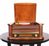 HX Classic Retro LP vinyl gramophone record player Bluetooth turntable CD Player Retro FM Radio 220v