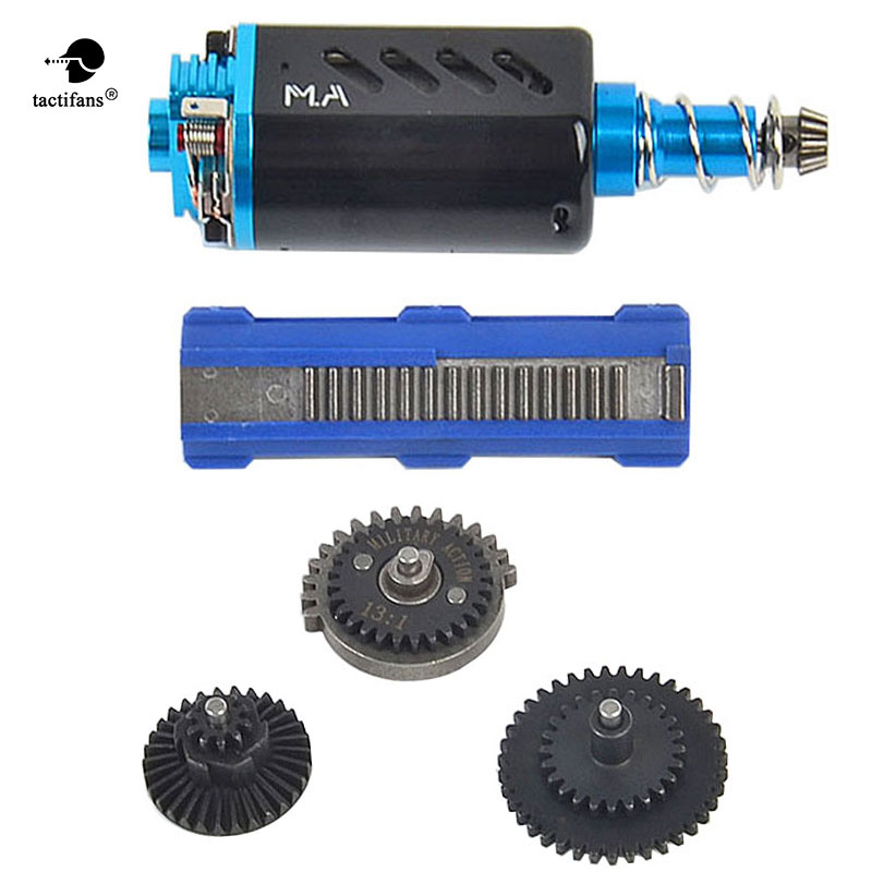 Tactifans High Torque AEG Motor Long Axis&High Speed Gears 13:1&14 Teeth Piston conversion kit for AEG For Ver.2/3 Airsoft штроборез aeg mfe 1500