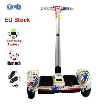 FLJ Hoverboard 10 inch Two Wheels Self Balancing Scooter Samsung Battery Bluetooth Key with Handle Standing Balance Hover board telephony