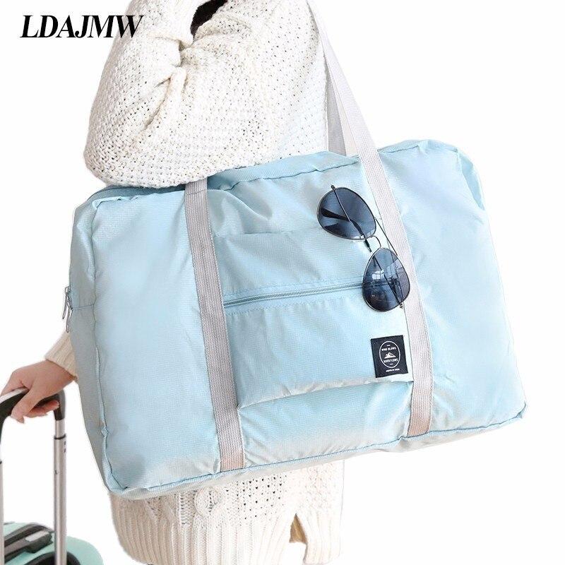 Dropshipping Casual de gran capacidad de embalaje de equipaje, bolso hombro viajes de compras bolsa plegable de almacenamiento de ropa bolsa organizador