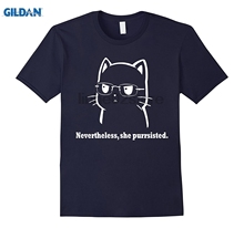 GILDAN Nevertheless she purrsisted t-shirt