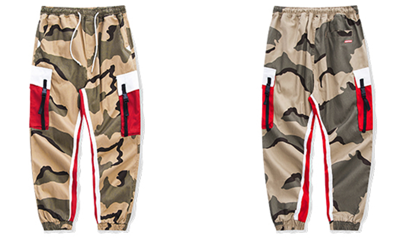 Aolamegs Men Side Strip Track Pants Pocket Pants Men Elastic Waist Sweatpants Casual Streetwear Hip Hop Men High Street Pants (7)