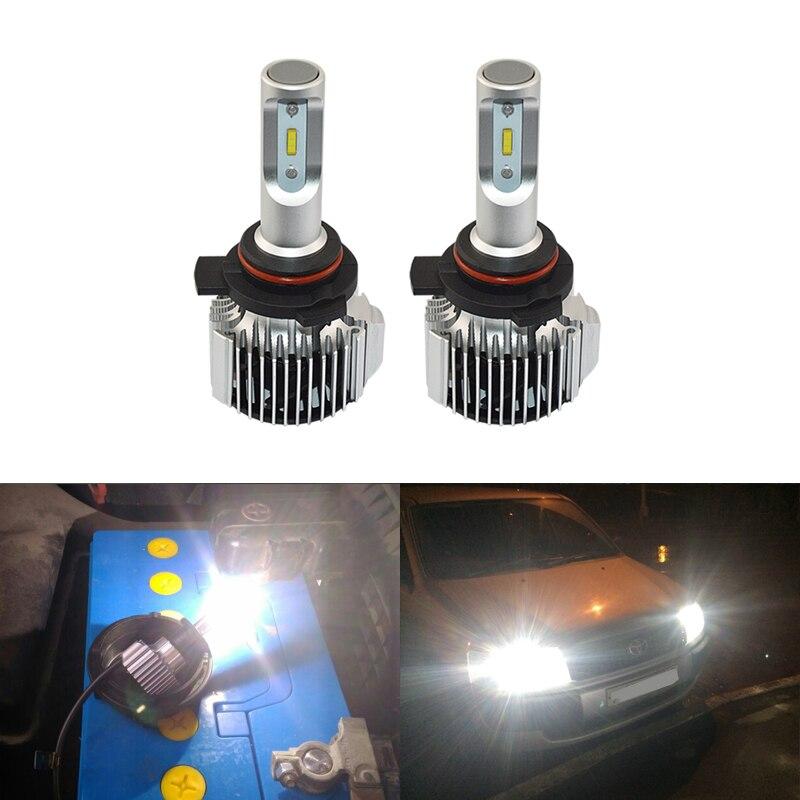 Car Headlights 30W 2PCs Led Bulb HIR2 9012 LL 6000K White Headlight Lamp 9012 HIR 2 Car-Styling External HeadLamp Bulbs 2pcs car led headlight h7 30w 3000lm high brightness rgb car headlights bulb 6000k super heat dissipation car headlamp bulbs