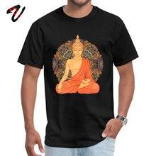 Golden Buddha + Mandala Funny Justin Bieber Sleeve T Shirt Labor Day Crew Neck Marvel Men T-shirts Family