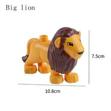 Duplo Animals Figures Large Size Building Blocks Sets Elephant Dinosaur Compatible Duploe Legoings