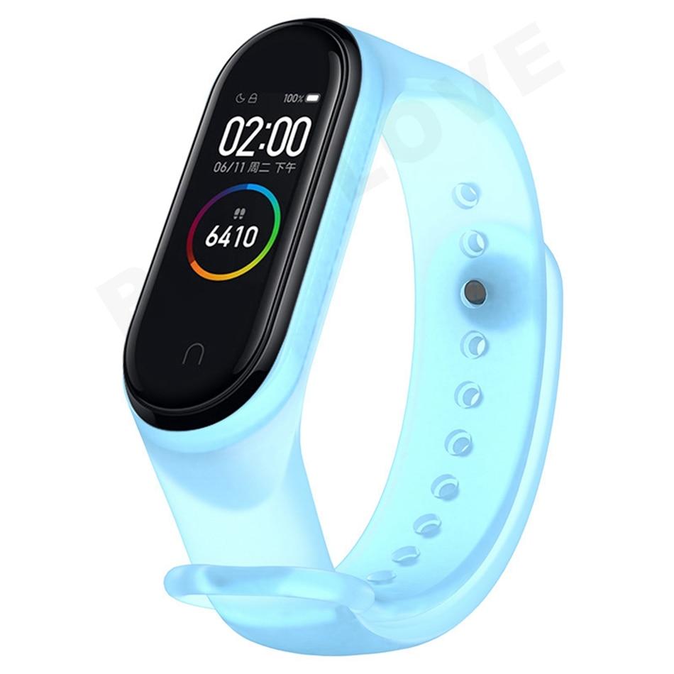 Clear Mi Band 4 3 Strap Wrist Strap For Xiaomi Mi Band 3 4 Bracelet Silicone Miband 3 4 NFC Accessories Smart Mi band4 Correa 5