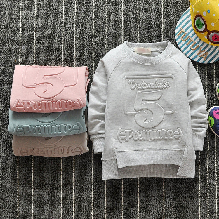 2017 new baby sweatershirts cotton baby shirts 0-3years children clothing