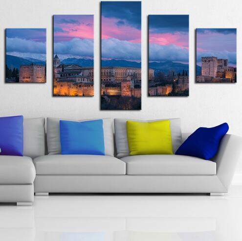 5 Stücke Alhambra Spanien Moderne Gedruckt Home Für Wohnzimmer Malerei Auf  Leinwand Wandkunst Bild Decor Kunstwerke