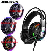Joinrun Internet Cafe Gamingหูฟังหูฟังสเตอริโอหูฟังชุดหูฟังหูฟังไมโครโฟนสำหรับโทรศัพท์มือถือPCเกม