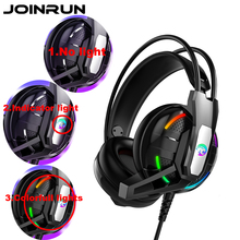Joinrun Internet cafe Gaming Headphone Stereo Earphones Headset Earphones with Microphone for PC Mobile Phone Game