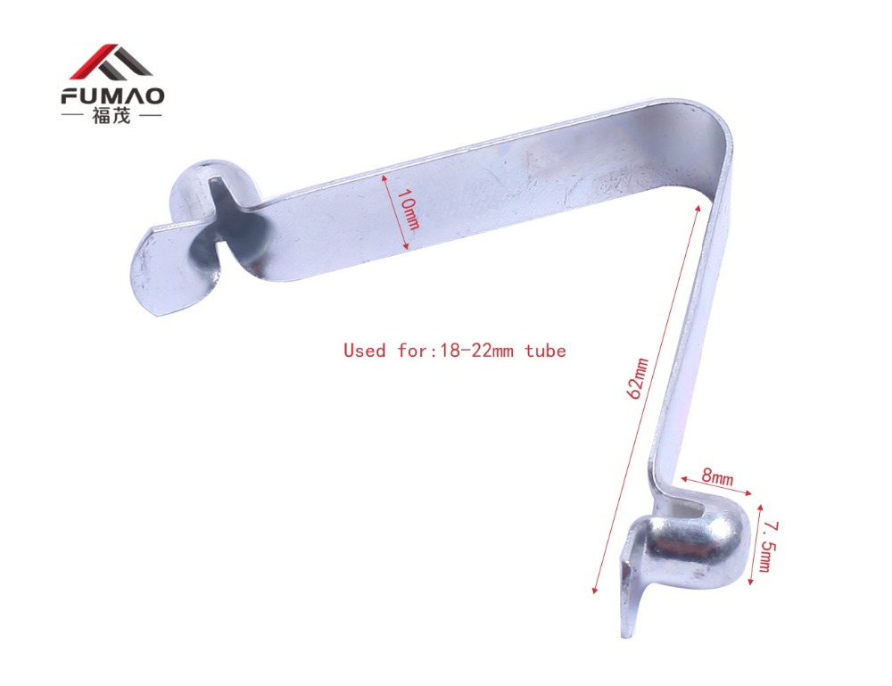 Купить с кэшбэком Kayak Paddle Clip Holder Paddle Spring Clips Push Button Spring Snap Clip Locking Tube Pin Keeper Mount for 9-25mm tube