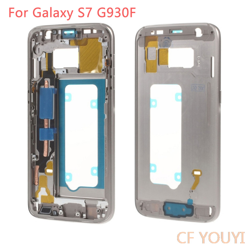 CFYOUYI for Samsung Galaxy S7 G930F Mid Middle Plate Frame Housing with Small Parts - Gold Grey SilverCFYOUYI for Samsung Galaxy S7 G930F Mid Middle Plate Frame Housing with Small Parts - Gold Grey Silver