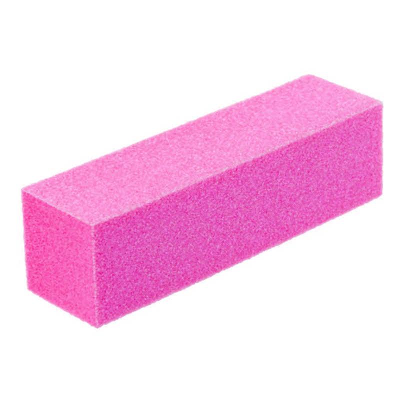 Lima de uñas profesional Rosa pulidora Lima a Ongle bloque de lijado conjunto de esponja arte de uñas Punta de alta calidad Archivo de amortiguación