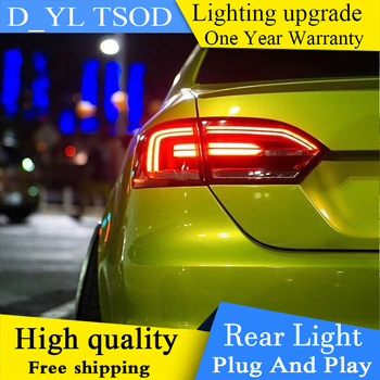 Car Styling for vw jetta 2012-2017 LED taillights GLI MK6 LED rear lamps parking NCS For vw jetta led rear lights car styling