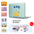 Cute Minions Jeans Fashion Color Print Cover Case For Apple Macbook Pro Retina 13 12 15 for Mac book Air 11 13 Laptop Bag