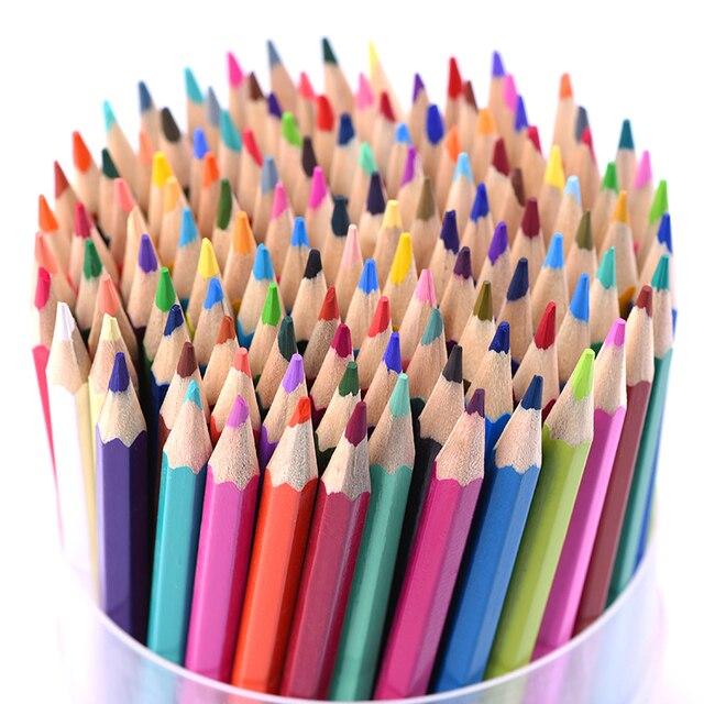 Couleurs Bois Crayon Ensemble Lapis De Cor Artiste Peinture