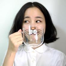 Милый Кот Китти боронсиликатная стеклянная кофейная чашка прозрачная чашка для воды 550 мл кошачья мордочка Кофе Чай Молоко завтрак креативная кружка подарки