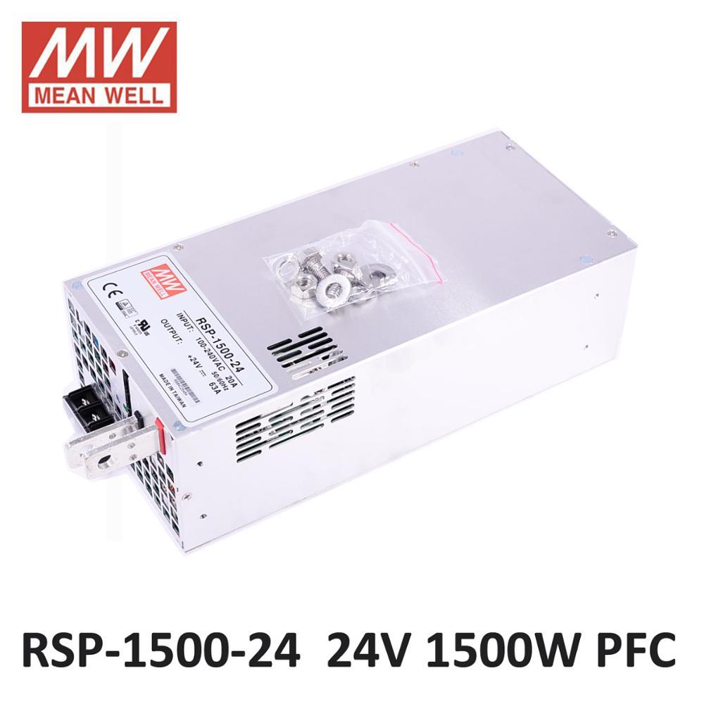 Meanwell 1500 W SMPS PFC fonction RSP-1500-24 24 V 5 V 15 V DC alimentation LED alimentation 12 V 48 V commutation alimentation pilote pour bande de LED